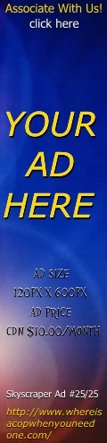 Click here to Sign Up for Advertising fill out the Form then make the payment and see Your Skyscraper Ad #25 Here Consumer Client Citizen